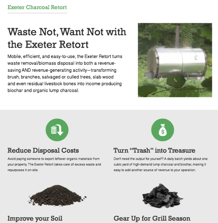 Exeter Charcoal Retort Info Sheet